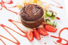 Суфле шоколада Стоковые Фотографии RF
