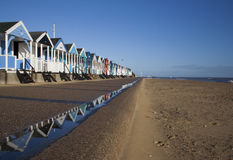 суффольк southwold пляжа Стоковое Фото