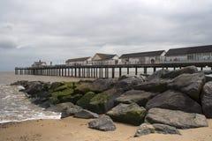 суффольк southwold пристани Англии Стоковая Фотография