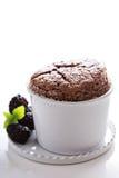 Суфле шоколада с толстой поливой Стоковые Изображения RF