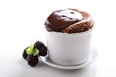 Суфле шоколада с толстой поливой Стоковое Изображение RF