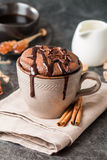 Суфле шоколада с шоколадом Стоковое Фото