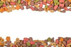 Сухая граница корма для домашних животных Стоковые Фото