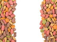 Сухая граница корма для домашних животных Стоковое Изображение