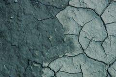 Сухая и треснутая земля текстура Справочная информация Стоковая Фотография RF