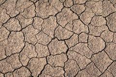 Сухая и треснутая текстура земли Глобальное изменение климата Стоковые Изображения