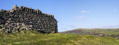 Сухая каменная стена в районе озера Стоковое Фото