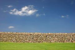 сухая каменная стена Стоковое Изображение