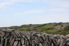 сухая каменная стена Стоковые Изображения RF