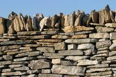 сухая каменная стена Стоковые Изображения