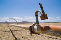 Сухая обрабатываемая земля Калифорнии Стоковая Фотография RF
