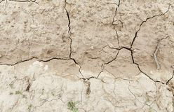 Сухая почва засухой Стоковое Изображение