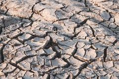 Сухая почва причиненная засухой Стоковое Изображение RF