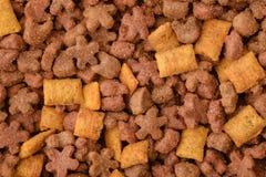 Сухая предпосылка корма для домашних животных Стоковые Фото