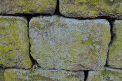 Сухая текстура каменной стены Стоковые Фотографии RF