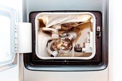 Сухая филировальная машина CAD CAM касания зубоврачебная стоковое фото rf