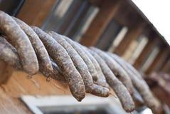 сухие вися сосиски, котор курят к Стоковая Фотография RF