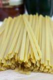 Сухие макаронные изделия Fetticcine Стоковое Фото