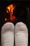сухие ноги пожара Стоковые Фото