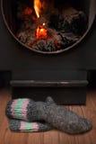 сухие ноги пожара Стоковые Фотографии RF