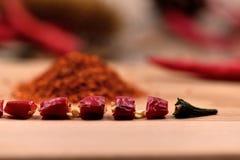 Сухие перцы чилей Стоковые Фотографии RF