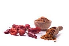 Сухие перцы chili на белизне Стоковые Фото