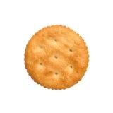 Сухие печенья шутихи изолированные на белом вырезе предпосылки, взгляд сверху, концепции еды Стоковое Фото