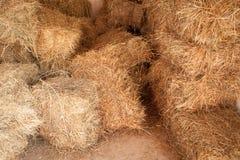 Сухие стога сена, внутри амбара стоковые фотографии rf