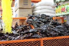 Сухие Chilies в мексиканском рынке Стоковое Фото