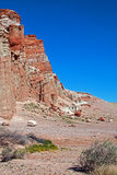 Сухое мытье заводи в красном парке штата Калифорнии США каньона утеса Стоковое Изображение RF