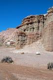 Сухое мытье заводи в красном парке штата Калифорнии США каньона утеса Стоковая Фотография