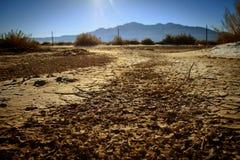 Сухое дно озера пустыни Стоковое Изображение RF