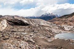 Сухое озеро Аргентин Патагонии Стоковая Фотография