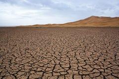 сухое озеро Сахара Стоковые Фото
