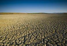 сухое озеро Стоковая Фотография