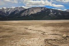 сухое озеро стоковая фотография rf