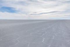 Сухое соль Салара de Uyuni плоское - отдел Potosi, Боливия стоковая фотография