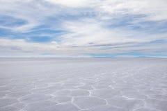 Сухое соль Салара de Uyuni плоское - отдел Potosi, Боливия стоковая фотография rf