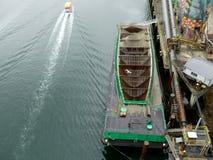 Сухой вид с воздуха цемента грузового корабля Стоковое Изображение RF