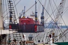 Сухой док в Гамбурге Стоковые Изображения RF