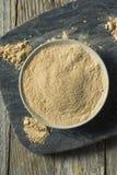 Сухой органический порошок Superfood Maca стоковые фотографии rf