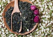 Сухой чай цветет состав Стоковая Фотография