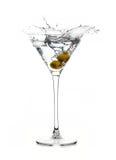 сухой martini Коктеиль Выплеск Стоковые Изображения