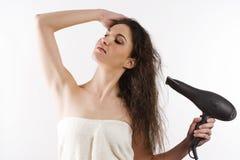 суша волосы Стоковая Фотография RF