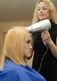 Сушить волос покрашенных имбирем Стоковая Фотография