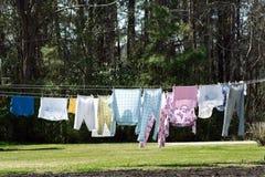 Сушить одежд Стоковые Изображения