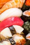 Суши. Комбинация продукта моря Стоковое Изображение RF