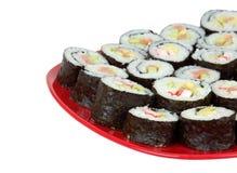 суши красного цвета плиты Стоковое Изображение RF