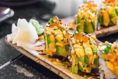 суши крена авокадоа Стоковая Фотография