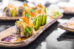 суши крена авокадоа Стоковое Фото